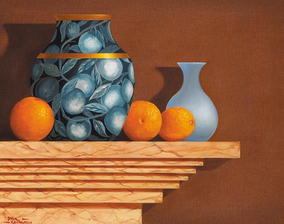 STILL LIFE WITH ORANGES by Paul Kavanagh sold for �950 at Whyte's Auctions