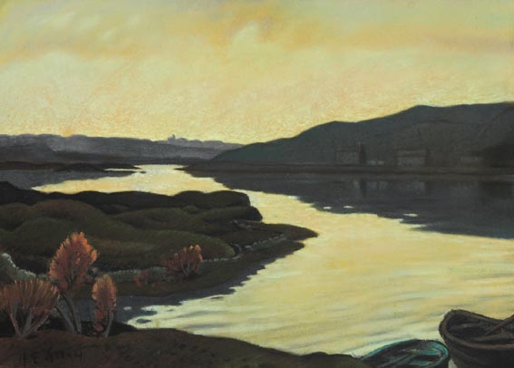 EVENING, CLIFDEN BAY by Harry Epworth Allen sold for �3,000 at Whyte's Auctions