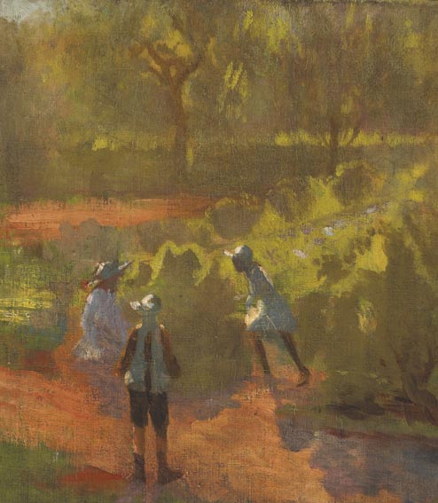 THREE CHILDREN IN A SUMMER LANDSCAPE by William John Leech sold for �14,500 at Whyte's Auctions