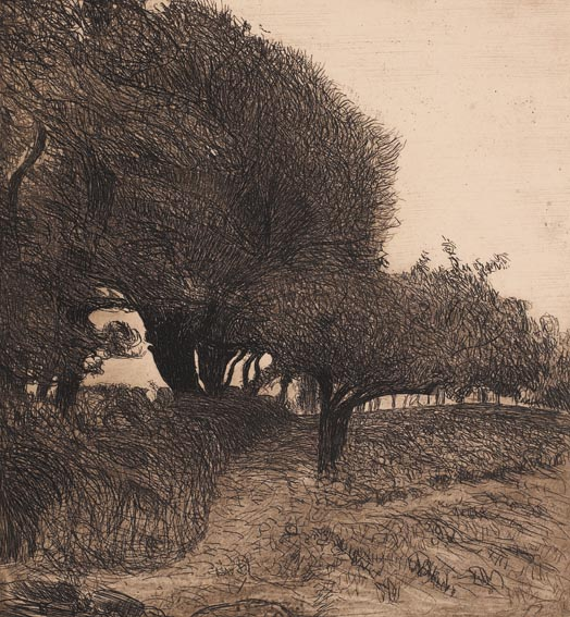 SENTIER � TRAVERS LES ARBES / PATH THROUGH THE TREES, circa 1893 by Roderic O'Conor sold for �2,800 at Whyte's Auctions