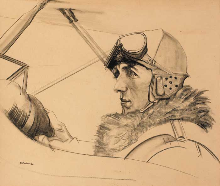 THE AIRMAN by Seán Keating sold for €22,000 at Whyte's Auctions