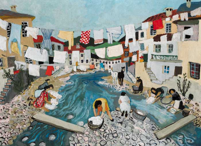 WASHING DAY by Gerard Dillon sold for �42,000 at Whyte's Auctions