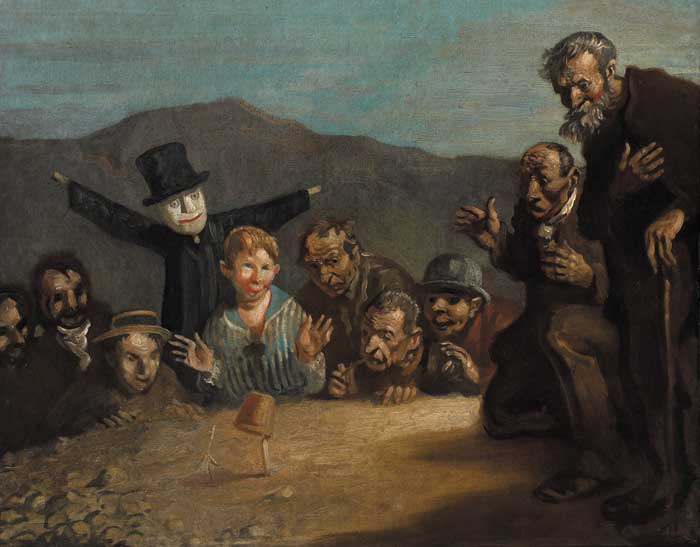 AND CORN SHALL GROW IN THE DESERT by Sir William Orpen sold for �42,000 at Whyte's Auctions