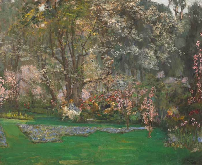 SPRING IN A RIVIERA GARDEN by Sir John Lavery sold for �120,000 at Whyte's Auctions