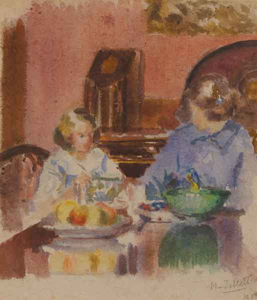 BABBIN AND BETTY, FITZWILLIAM SQUARE by Mainie Jellett sold for �8,400 at Whyte's Auctions