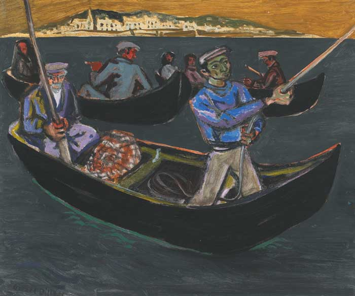 CURRACHS OFF ROUNDSTONE by Gerard Dillon sold for �40,000 at Whyte's Auctions