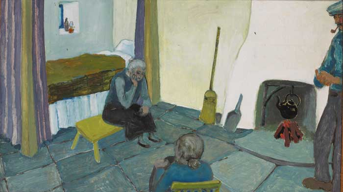 COTTAGE INTERIOR, circa 1952 by Gerard Dillon sold for �90,000 at Whyte's Auctions