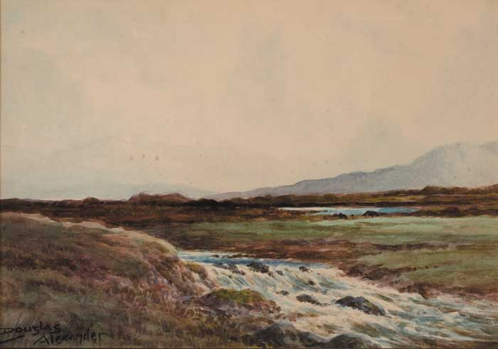 TROUT STREAM, NEAR LEENANE, CONNEMARA by Douglas Alexander sold for �1,000 at Whyte's Auctions
