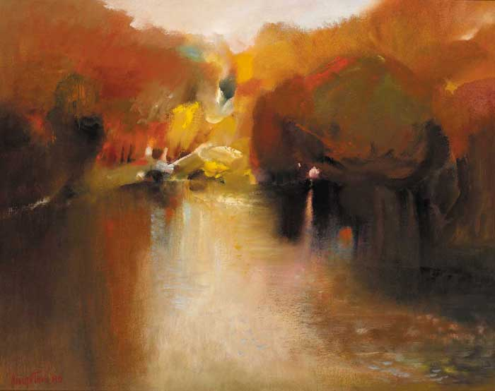 POND IN PHOENIX PARK by Richard Kingston sold for �7,000 at Whyte's Auctions