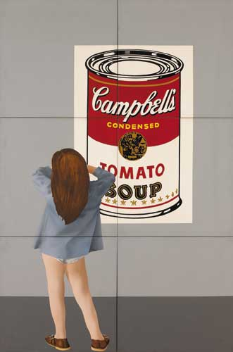 CHILD WITH AN ANDY WARHOL, 1973 by Robert Ballagh sold for �26,000 at Whyte's Auctions
