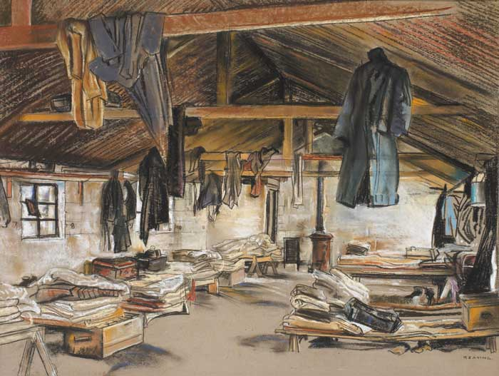 BUNKHOUSE AT SHANNON, ARDNACRUSHA WORKS by Seán Keating sold for €23,000 at Whyte's Auctions