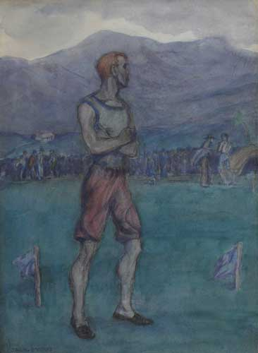 THE OLD CHAMPION, circa 1899 by Jack Butler Yeats sold for �39,000 at Whyte's Auctions