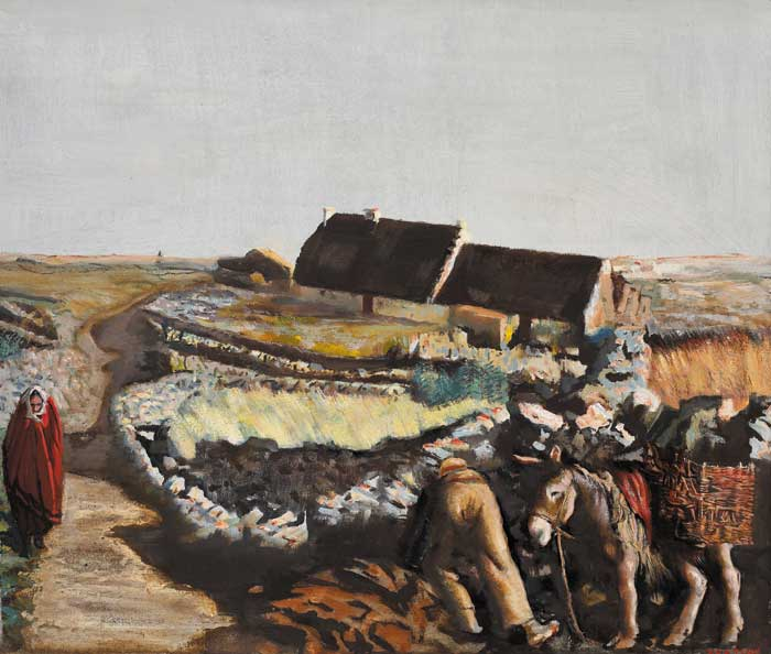 THE WIND THAT SHAKES THE BARLEY, 1941 by Seán Keating sold for €78,000 at Whyte's Auctions