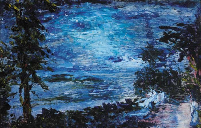 NIGHT, GLENGARRIFF, 1944 by Jack Butler Yeats sold for �82,000 at Whyte's Auctions