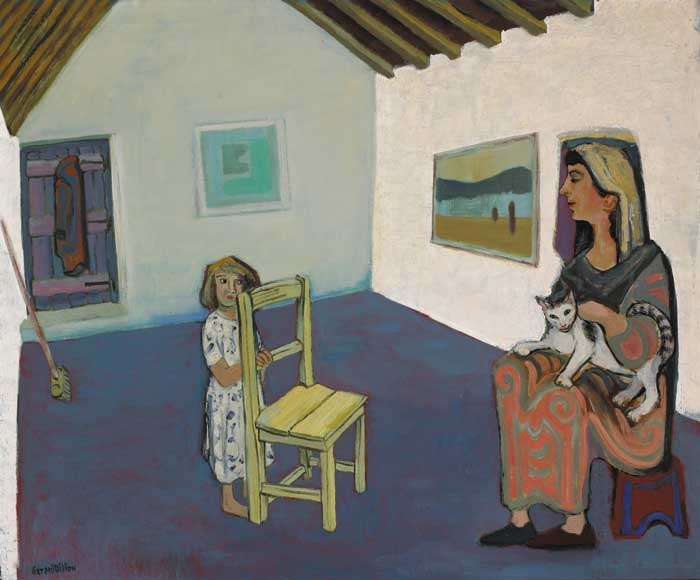 LITTLE GIRL'S WONDER, circa 1955 by Gerard Dillon sold for �125,000 at Whyte's Auctions