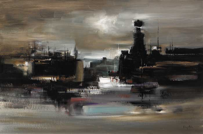 HOWTH HARBOUR by Richard Kingston sold for �9,500 at Whyte's Auctions