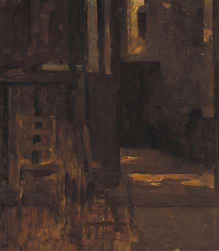 INTERIOR OF A CHURCH by Walter Frederick Osborne sold for �2,000 at Whyte's Auctions