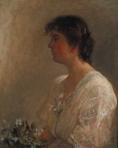 PORTRAIT OF A LADY, circa 1904 - 08 by Lily Williams ARHA (1874-1940) ARHA (1874-1940) at Whyte's Auctions