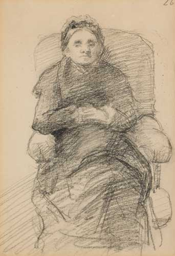THE ARTIST'S MOTHER, 1883 by Sarah Henrietta Purser HRHA (1848-1943) HRHA (1848-1943) at Whyte's Auctions