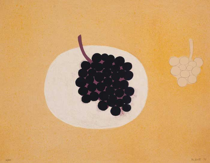GRAPES, 1979 by William Scott sold for �9,200 at Whyte's Auctions
