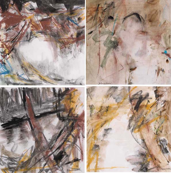 DUNADRY BANKS, FOUR VIEWS AFTER THE POEM OF THE SAME NAME BY PAUL YATES by Basil Blackshaw sold for �34,000 at Whyte's Auctions