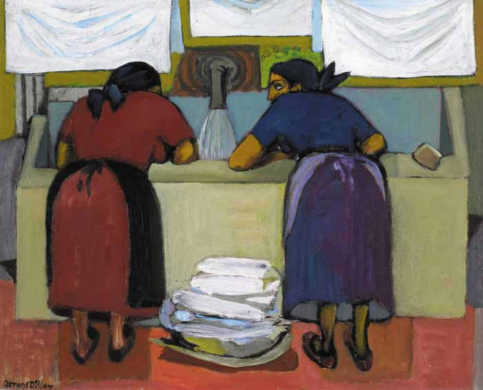 ITALIAN WASHER WOMEN by Gerard Dillon sold for �70,000 at Whyte's Auctions