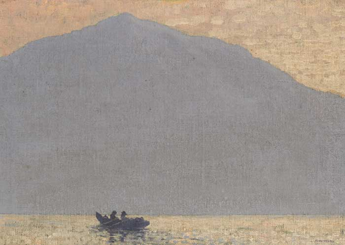 LOBSTER FISHERMEN OFF ACHILL, circa 1916-17 by Paul Henry sold for �170,000 at Whyte's Auctions