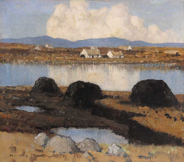 A LAKE IN KERRY, circa 1934-5 by Paul Henry sold for �145,000 at Whyte's Auctions
