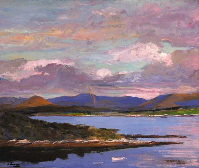 THE KENMARE RIVER, EVENING, COUNTY KERRY, 1924 by Sir John Lavery sold for �80,000 at Whyte's Auctions