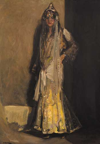 MISS FLORA LION IN ORIENTAL COSTUME by Sir John Lavery sold for �39,000 at Whyte's Auctions