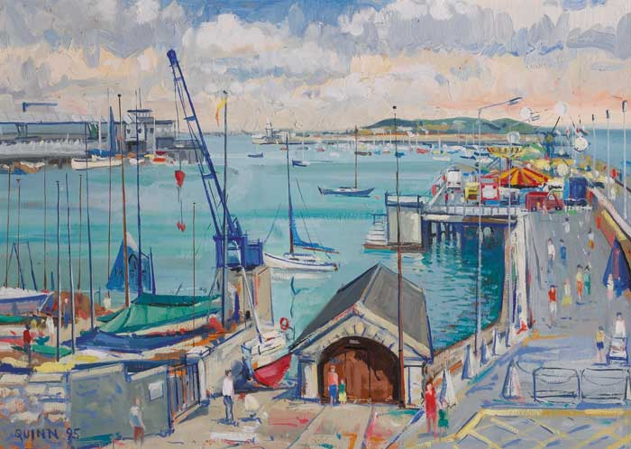 EAST PIER, DUN LAOGHAIRE HARBOUR, 1995 by Brian Quinn sold for �1,200 at Whyte's Auctions