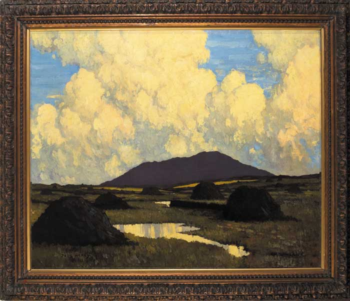 THE BOG AT EVENING, circa 1922-23 by Paul Henry sold for �205,000 at Whyte's Auctions