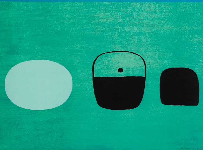 GREEN PREDOMINATING, 1976 by William Scott sold for �8,000 at Whyte's Auctions