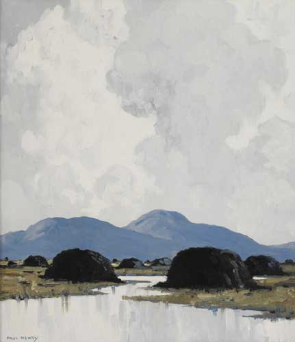 AN IRISH BOG, circa 1939 by Paul Henry sold for �120,000 at Whyte's Auctions