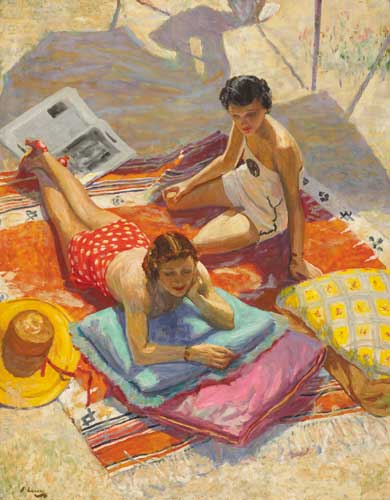 SUNBATHERS, 1936 by Sir John Lavery sold for �240,000 at Whyte's Auctions