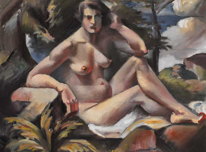 NUDE IN LANDSCAPE, circa 1921 by Mainie Jellett sold for �35,000 at Whyte's Auctions