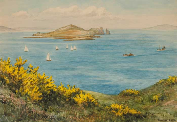 IRELAND'S EYE FROM HOWTH, COUNTY DUBLIN by Frederick Howard Knee sold for �300 at Whyte's Auctions