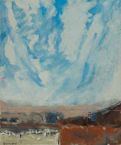 RIVER FIELD I by Basil Blackshaw sold for �10,000 at Whyte's Auctions
