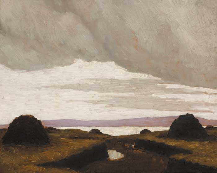 A BOG BY THE SEA, circa 1915-17 by Paul Henry sold for �82,000 at Whyte's Auctions