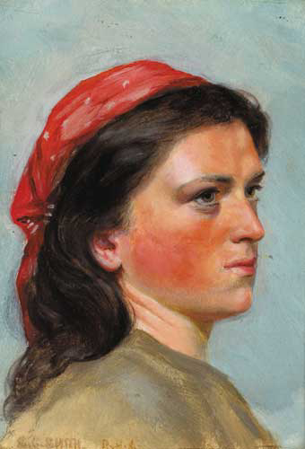 AN IRISH COLLEEN by Stephen Catterson-Smith Jnr PRHA (1849-1912