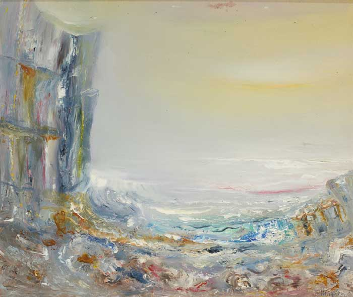 CAUSEWAY SUNRISE FROM ANTRIM COAST by Richard Kingston sold for �5,000 at Whyte's Auctions