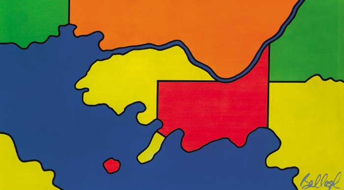MAP SERIES, 1965 by Robert Ballagh sold for �13,000 at Whyte's Auctions