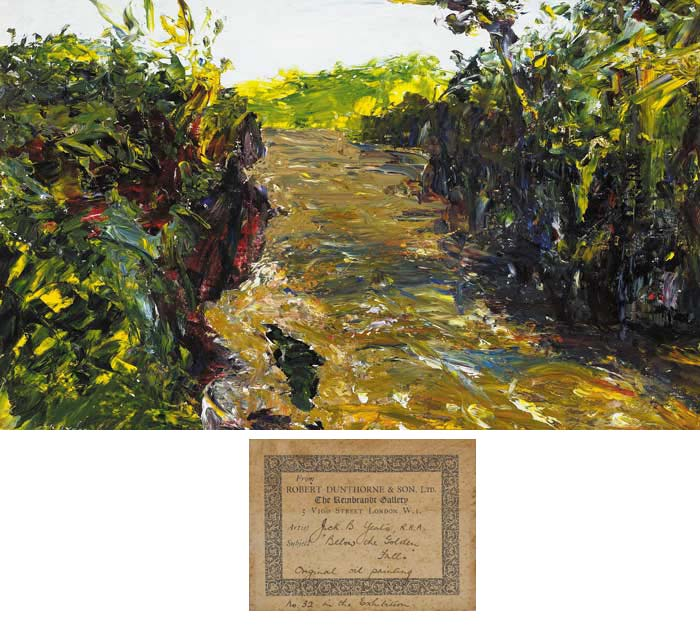 BELOW THE GOLDEN FALLS, 1936 by Jack Butler Yeats sold for �70,000 at Whyte's Auctions