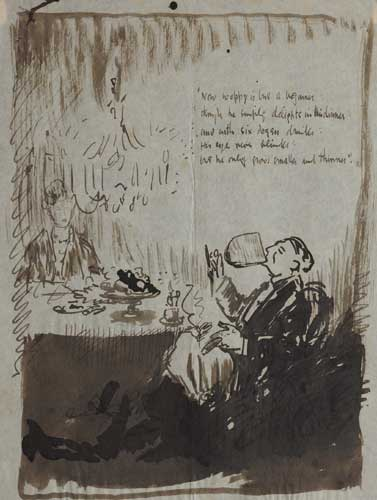 NOW WOPPY IS BUT A BEGINNER by Sir William Orpen sold for �1,500 at Whyte's Auctions