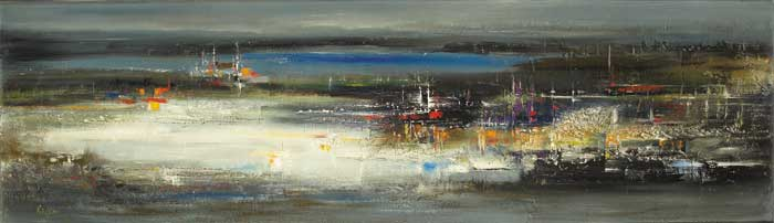 ASPECT OF DUBLIN BAY by Richard Kingston sold for �10,000 at Whyte's Auctions