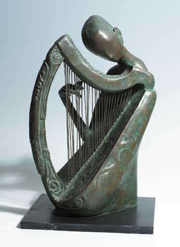 HARPIST, 1984 by Rowan Gillespie sold for �11,500 at Whyte's Auctions
