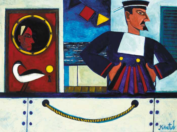 SAILOR WITH ACCORDION by Graham Knuttel sold for �6,000 at Whyte's Auctions