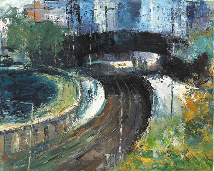 FOOTBRIDGE AT SEAPOINT, 2001 by Donald Teskey sold for �32,000 at Whyte's Auctions