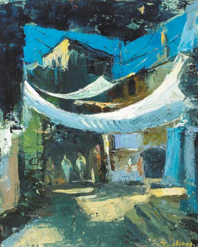 STREET IN SAFED, 1999 by Donald Teskey sold for �20,000 at Whyte's Auctions