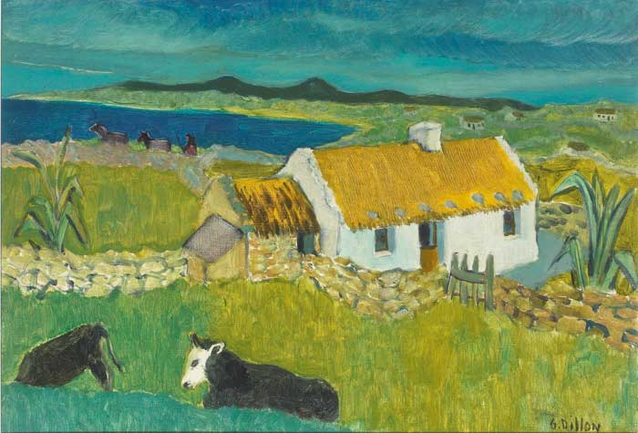 CATTLE AND COTTAGE by Gerard Dillon sold for �52,000 at Whyte's Auctions